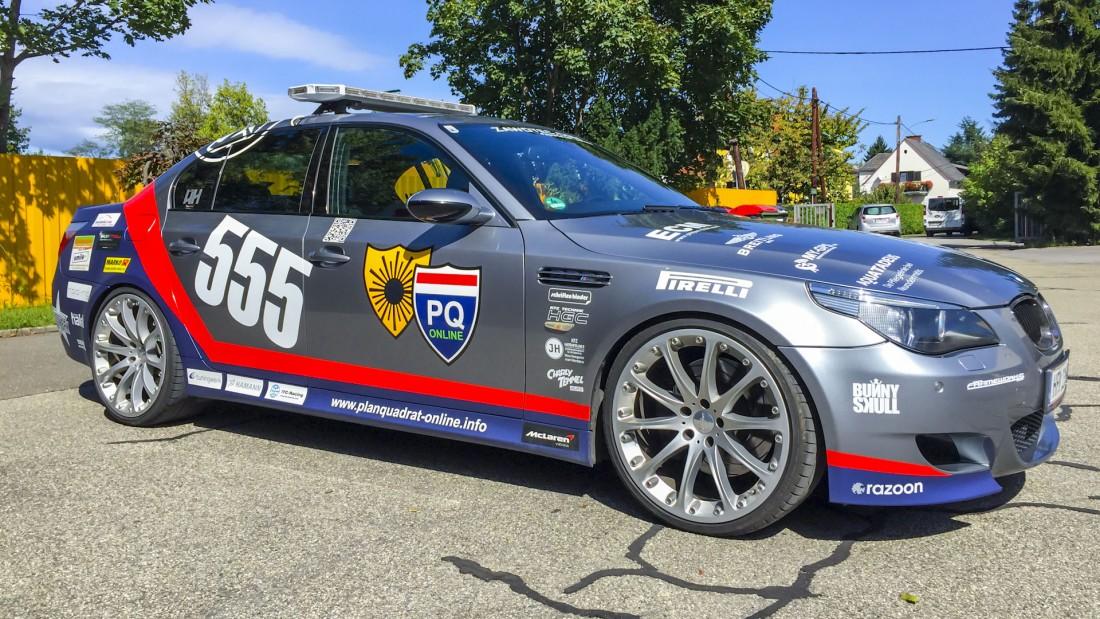 Austroball-Rally-Fahrzeugbeschriftung