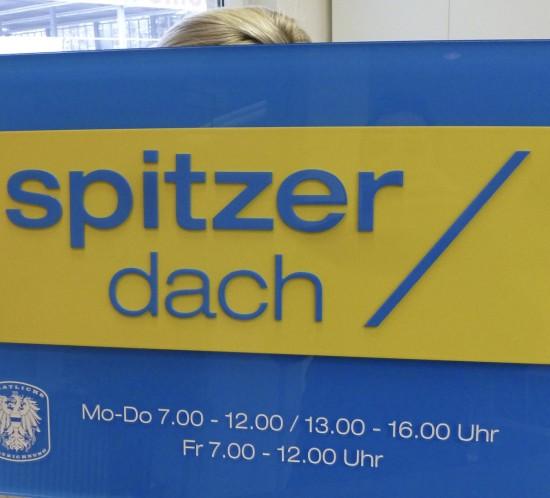 spitzer-dach-schild
